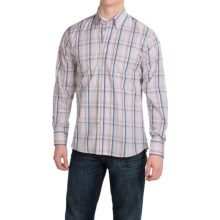 Kenneth Gordon Cotton Madras Plaid Sport Shirt - Long Sleeve (For Men) in Blue Multi - Closeouts