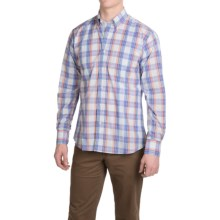 Kenneth Gordon Cotton Madras Plaid Sport Shirt - Long Sleeve (For Men) in Lavender/Orange/Green - Closeouts
