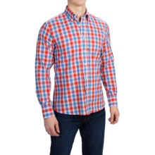 Kenneth Gordon Cotton Plaid Sport Shirt - Long Sleeve (For Men) in Blue/Red - Closeouts