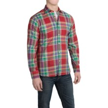 Kenneth Gordon Cotton Plaid Sport Shirt - Long Sleeve (For Men) in Green/Red/Yellow/Blue - Closeouts