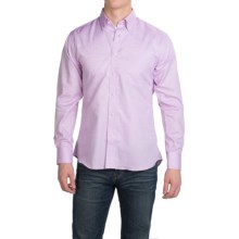 Kenneth Gordon Cotton Sport Shirt - Button-Down, Long Sleeve (For Men) in Lavendar Tonal - Closeouts