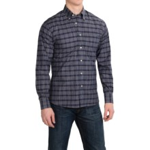 Kenneth Gordon Cotton Sport Shirt - Button-Down, Long Sleeve (For Men) in Navy/White/Yellow/Plaid - Closeouts