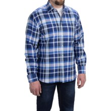 Kenneth Gordon Cotton Sport Shirt - Spread Collar, Long Sleeve (For Men) in Light Blue/Black - Closeouts