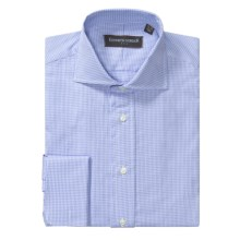 Kenneth Gordon Dress Shirt - French Cuffs, Long Sleeve (For Men) in Blue/White Houndstooth - Closeouts