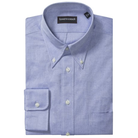 Kenneth Gordon Fancy Dress Shirt - Button Down, Long Sleeve (For Men) in Blue