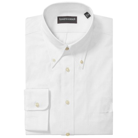 Kenneth Gordon Fancy Dress Shirt - Button Down, Long Sleeve (For Men) in White