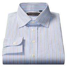 Kenneth Gordon Fancy Dress Shirt - Long Sleeve (For Men) in Light Blue / Rust Multi Stripe - Closeouts