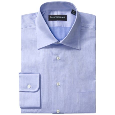 Kenneth Gordon Fancy Dress Shirt - Spread Collar, Long Sleeve (For Men) in Blue