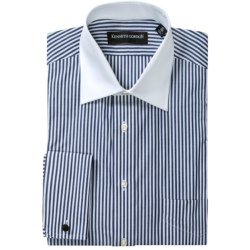 Kenneth Gordon French Cuff Dress Shirt - Contrast Buttons, Long Sleeve (For Men) in Navy