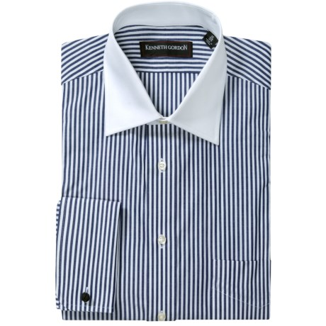 Kenneth Gordon French Cuff Dress Shirt - Contrast Buttons, Long Sleeve (For Men) in White