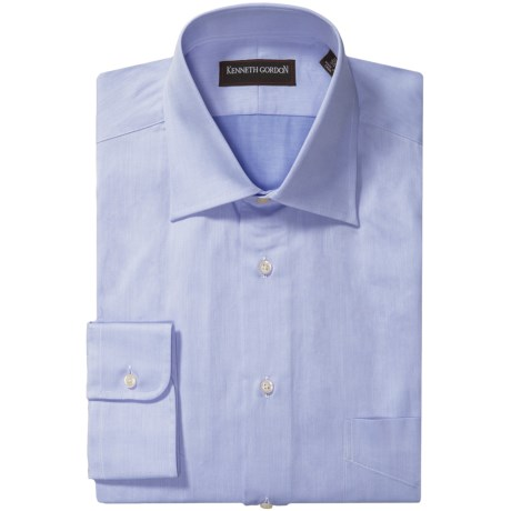Kenneth Gordon French Front Dress Shirt - Twill, Long Sleeve (For Men) in Blue