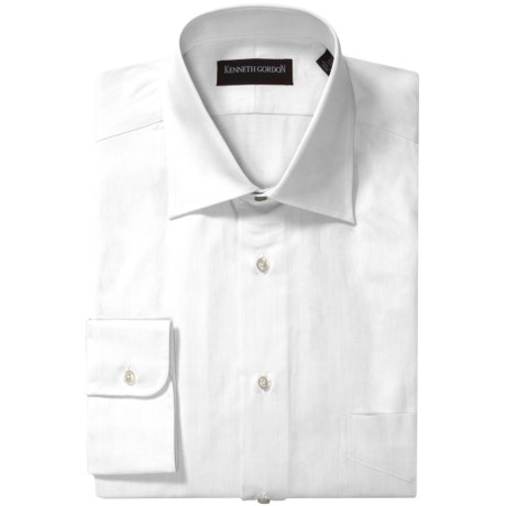 Kenneth Gordon French Front Dress Shirt - Twill, Long Sleeve (For Men) in White