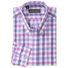 Kenneth Gordon Multi-Check Shirt - Long Sleeve (For Men) in Purple - Closeouts