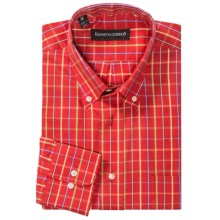 Kenneth Gordon Multi-Check Shirt - Long Sleeve (For Men) in Red Multi - Closeouts