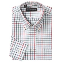 Kenneth Gordon Multi-Check Shirt - Long Sleeve (For Men) in White Multi - Closeouts