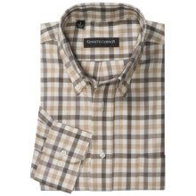 Kenneth Gordon Multi-Plaid Sport Shirt - Button-Down, Long Sleeve (For Men) in Brown/Tan/Natural Check - Closeouts