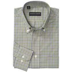 Kenneth Gordon Multi-Plaid Sport Shirt - Button-Down, Long Sleeve (For Men) in Olive/Blue Check