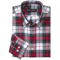 Kenneth Gordon Multi-Plaid Sport Shirt - Button-Down, Long Sleeve (For Men) in Blue/Forest/Orange Plaid