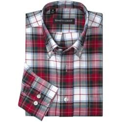 Kenneth Gordon Multi-Plaid Sport Shirt - Button-Down, Long Sleeve (For Men) in Charcoal/Blue Plaid
