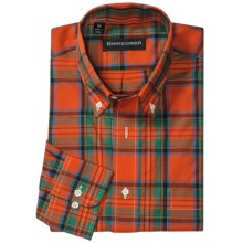 Kenneth Gordon Multi-Plaid Sport Shirt - Button-Down, Long Sleeve (For Men) in Red/Green Multi Plaid - Closeouts