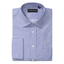 Kenneth Gordon Narrow Stripe Dress Shirt - Cotton, French Cuff, Long Sleeve (For Men) in Blue/White - Closeouts