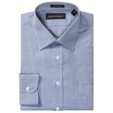 Kenneth gordon no iron dress shirt spread collar long for No iron shirts mens