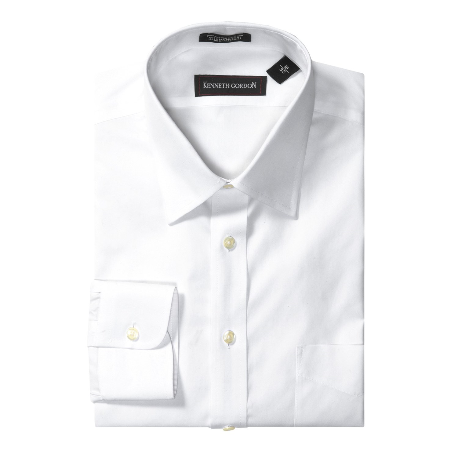 Kenneth gordon no iron dress shirt for men save 61 for Mens no iron dress shirts