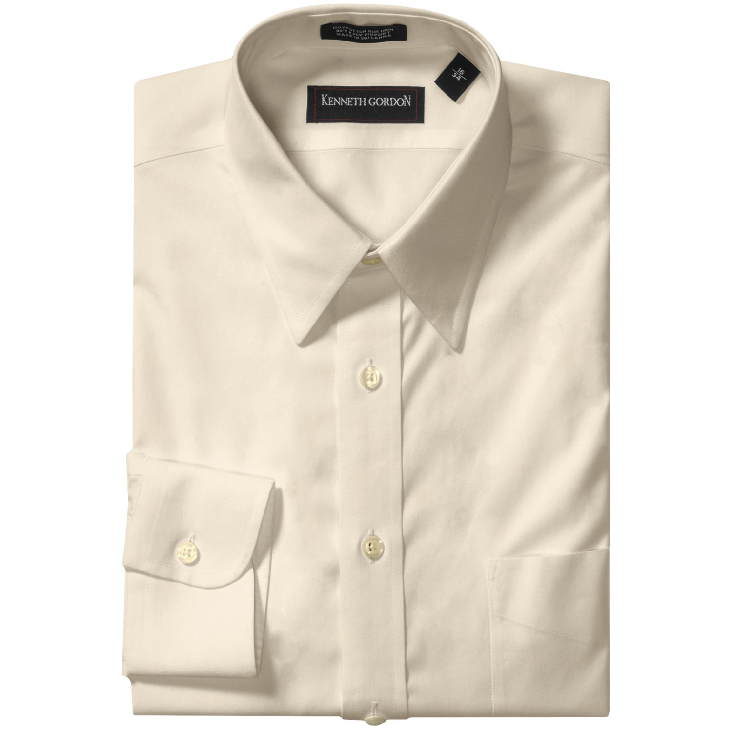 kenneth gordon non iron cotton dress shirt for men