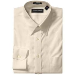 Kenneth Gordon Non-Iron Cotton Dress Shirt - Long Sleeve (For Men) in Ecru