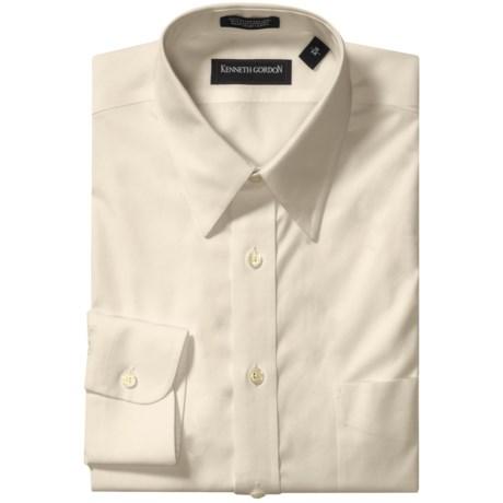 Kenneth Gordon Non-Iron Cotton Dress Shirt - Long Sleeve (For Men) in Ecru