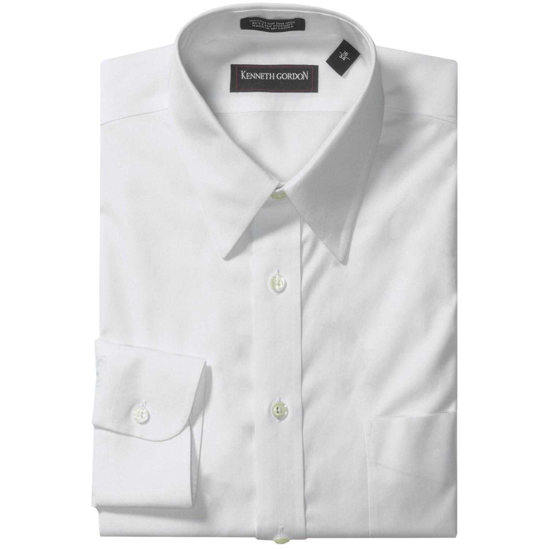 kenneth gordon non iron cotton dress shirt long sleeve