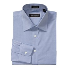 Kenneth Gordon Pinpoint Solid Dress Shirt - Cotton, Wrinkle-Free, Long Sleeve (For Men) in Blue - Closeouts
