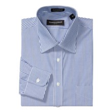 Kenneth Gordon Pinpoint Stripe Dress Shirt - Cotton, Wrinkle-Free, Long Sleeve (For Men) in White/Blue - Closeouts