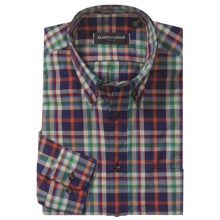 Kenneth Gordon Plaid Sport Shirt - Button-Down Collar, Long Sleeve (For Men) in Navy/Orange/Multi - Closeouts