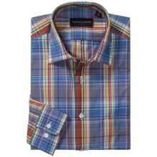 Kenneth Gordon Plaid Sport Shirt - Cotton, Long Sleeve  (For Men) in Blue/Red/Green/Multi - Closeouts