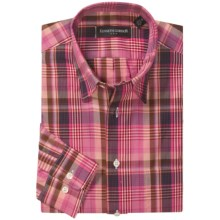 Kenneth Gordon Plaid Sport Shirt - Long Sleeve (For Men) in Pink/Blue/Red Multi - Closeouts