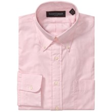 Kenneth Gordon Solid Button-Down Collar Dress Shirt - Long Sleeve (For Men) in Pink - Closeouts