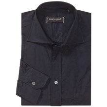 Kenneth Gordon Sport Shirt - Spread Collar, Long Sleeve (For Men) in Black Tonal Paisely - Closeouts