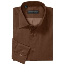 Kenneth Gordon Sport Shirt - Spread Collar, Long Sleeve (For Men) in Brown - Closeouts