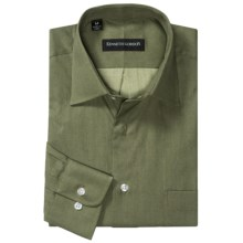 Kenneth Gordon Sport Shirt - Spread Collar, Long Sleeve (For Men) in Green - Closeouts