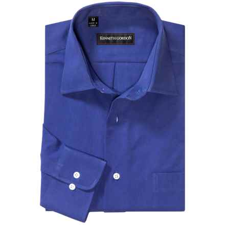 Kenneth Gordon Sport Shirt - Spread Collar, Long Sleeve (For Men) in Royal Blue - Closeouts
