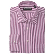 Kenneth Gordon Stripe Dress Shirt - Spread Collar, Long Sleeve (For Men) in Burgundy - Closeouts