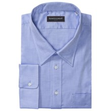 Kenneth Gordon Twill Dress Shirt - Modified Spread Collar, Long Sleeve (For Tall Men) in 40 Blue - Closeouts