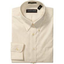 Kenneth Gordon Wrinkle-Free Pinpoint Cotton Dress Shirt - Long Sleeve (For Men) in Ecru - Closeouts