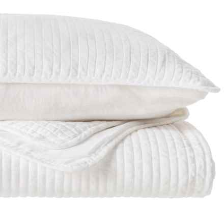 """Kensie 1/2"""" Channel Quilt Set - King in Bright White - Closeouts"""