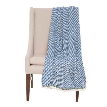 """Kensie Avalon Throw Blanket - 50x60"""" in Blue - Closeouts"""