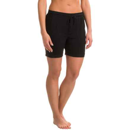 Kensie Basic Sleep Shorts (For Women) in Black - Closeouts