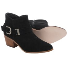 Kensie Colten Ankle Boots - Suede (For Women) in Black - Closeouts