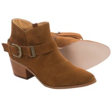 Kensie Colten Ankle Boots - Suede (For Women) in Cognac - Closeouts