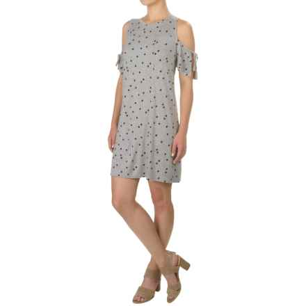 Kensie Confetti Dots Dress - Sleeveless (For Women) in Heather Grey Combo - Closeouts